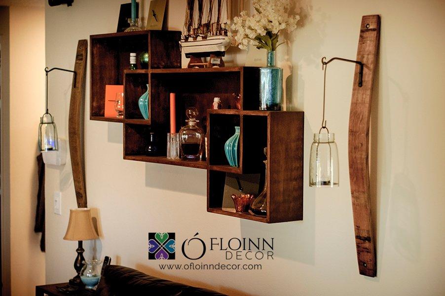 Wine Barrel Stave Sconce With Hook O Floinn Decor