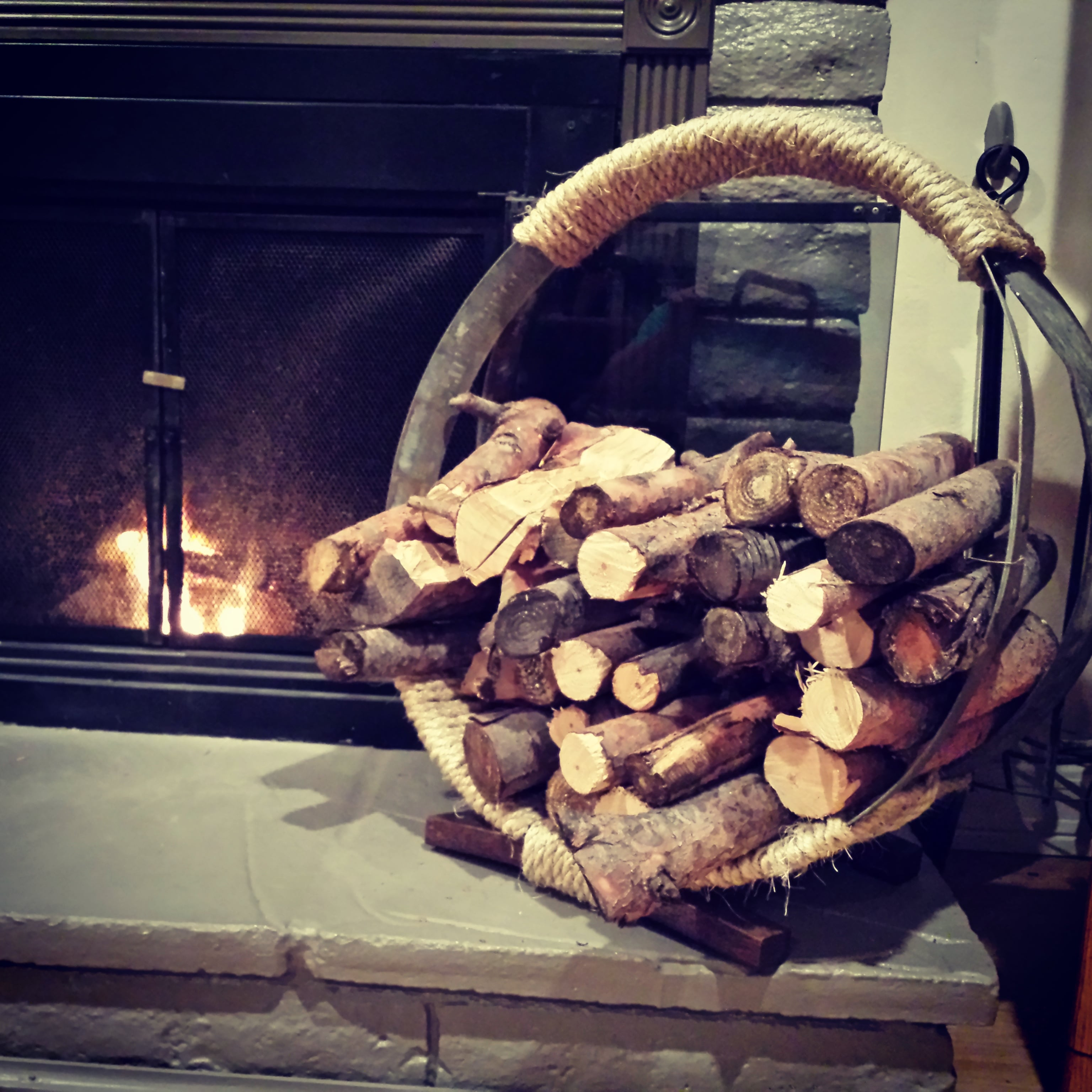 Barrel Hoop Firewood Rack