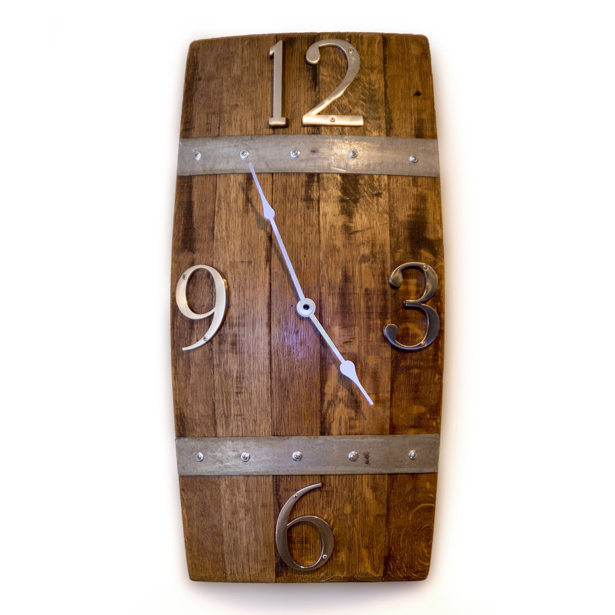 Barrel stave wall clock ofloinn decor barrel stave wall clock amipublicfo Image collections
