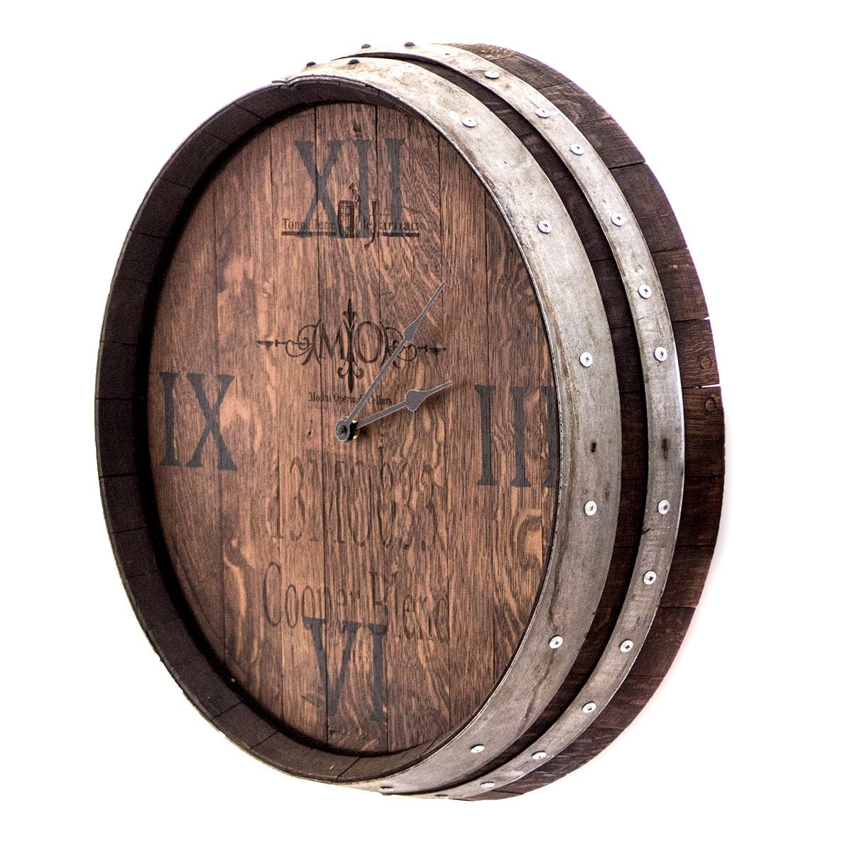Barrel End Wall Clock With Staves O Floinn Decor